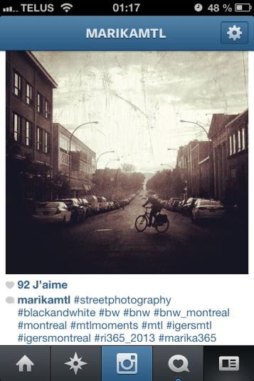 Exemple de hashtag sur Instagram