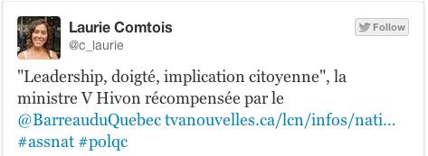 Exemple de tweet avec #PolQC