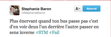 Exemple d'un tweet avec un #Fail